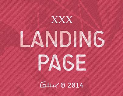 Landing Page. XXX © 2014