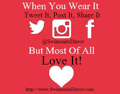 Hang Tags to encourage social media sharing.