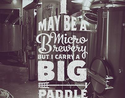Micro Brewery Typographic Illustration