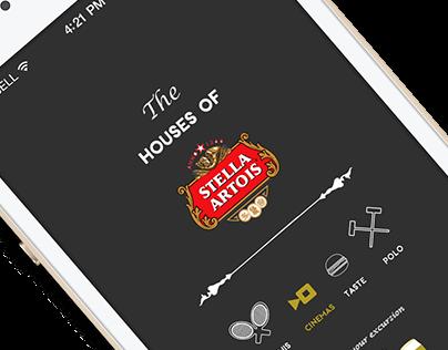 The Houses of Stella Artois | App Design