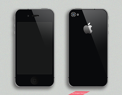 iPhone 4 black illustration