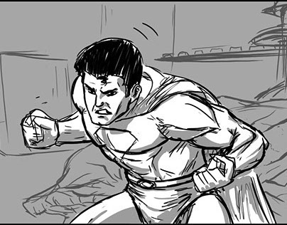 Superman: Origins storyboard animatic