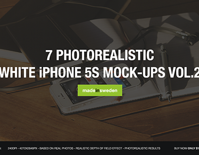 7 White iPhone 5S Mock-Ups Vol.2