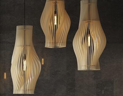 Pendant lamps in interior