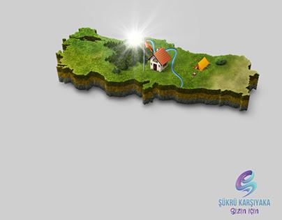 3D Türkiye Harita Çizimi