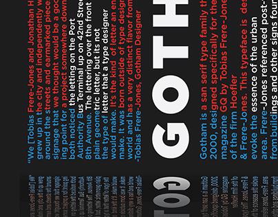Gotham Type History Poster
