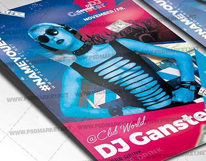 Special Guest DJ Flyer - PSD Template