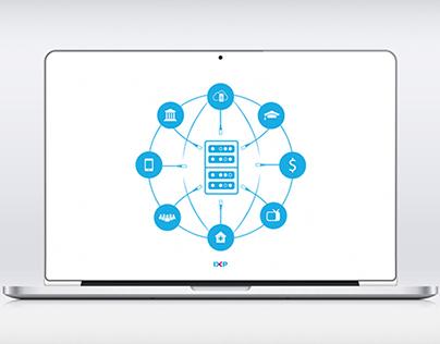 IXP(Internet exchange point) infographics design
