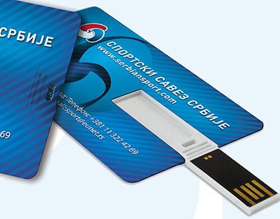 Design for USB card - Sport Association of Serbia