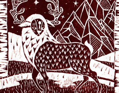 Lino cut prints 2013