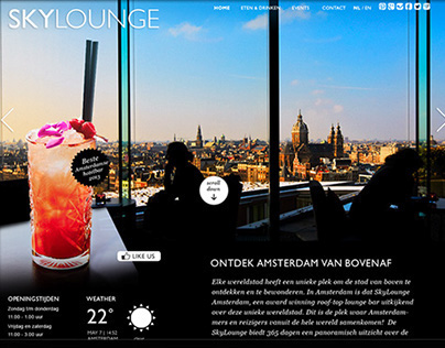 One-page Website for SkyLounge