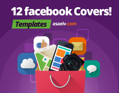 12 Facebook Covers Templates - Flat Style for Creatives