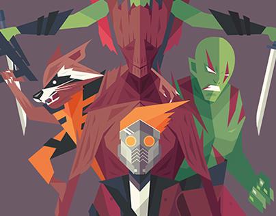 Guardians of the Galaxy Fan Art .