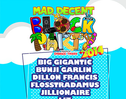 Mad Decent Block Party Flier