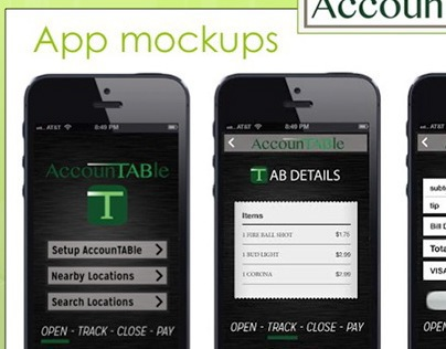AccounTABle Application Mock-ups