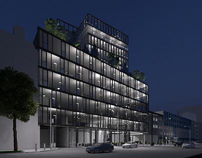 Business Center concept in Kiev city center