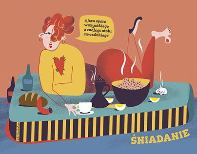 Śniadanie, obiad, kolacja – personal illustrations