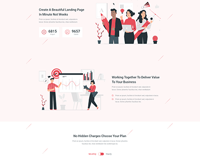 landing page design : inspired by themeforest