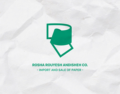 Logo R+Paper for a company that sales and imports paper