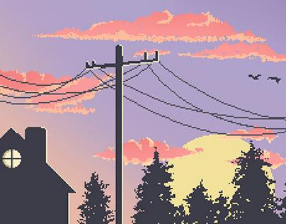 Pixel Sunrise