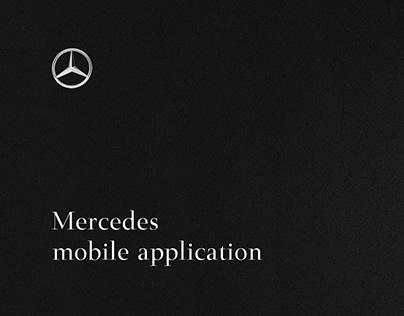 Mercedes mobile application design