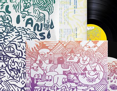 """Ganglians LP + 7"""" for Weird Forest Records"""