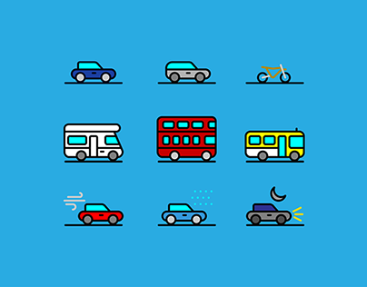 71 Traffic & Transportation Icon Collection | Free