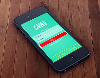 CURE mobile app UI