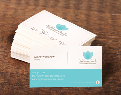 Lighthouse Candles Business Card