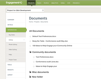 Document Library User Flows