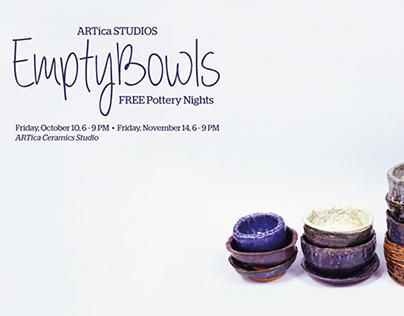 ARTica Studios: Empty Bowls 2014