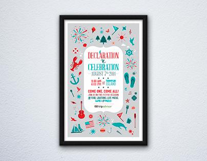 Declaration of Celebration Poster