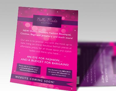 Bella Moda Fashion Boutique flyer design