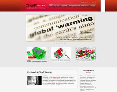 Clavell Advocats Website (2012)