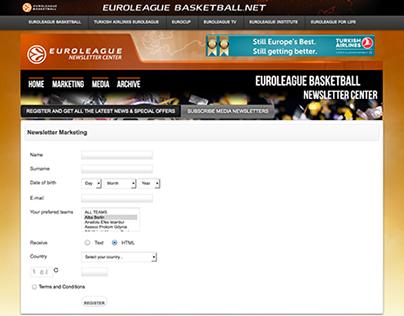 Euroleague Newsletters Platform (2012-2014)