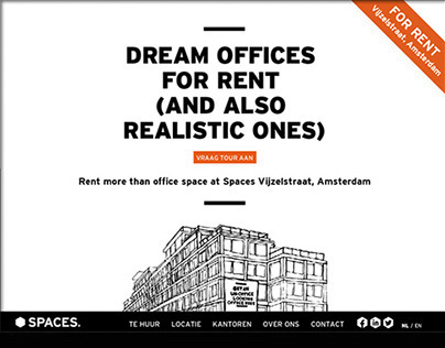 One-page Website for Spaces
