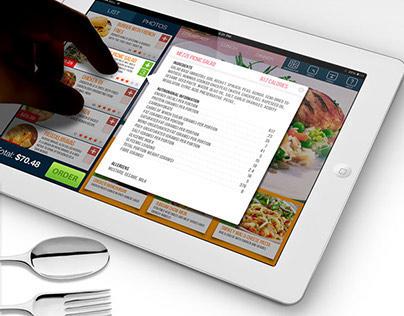 Concept Design For Restaurant iPad app
