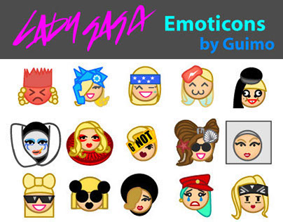 Lady Gaga EMOTICONS