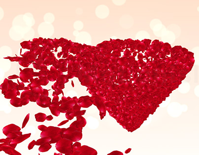 Wedding After Effects Template With Rose Petals