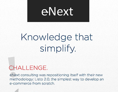 eNext: Knowledge That Simplify Campaign