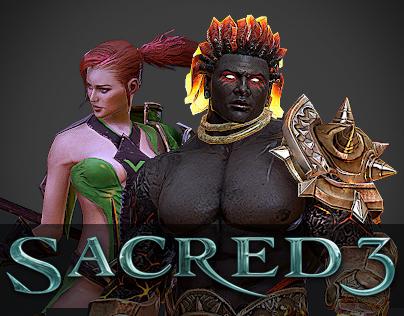 Sacred 3 Character Art