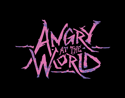 Angry at the World Logo Design