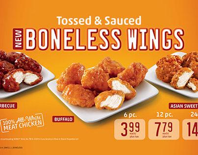 Tossed & Sauced Boneless Wings