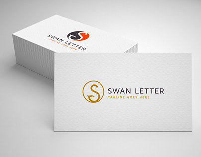 swan letter s logo template for sale