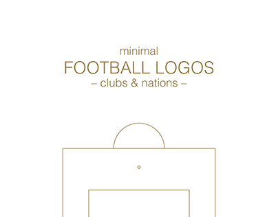 Minimal Football Logos