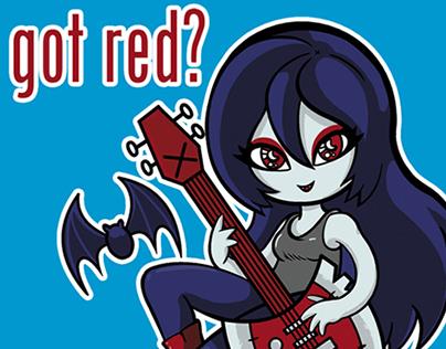 Marceline's got red!