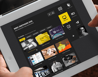 Flat Resume - Virtual Business Card HTML