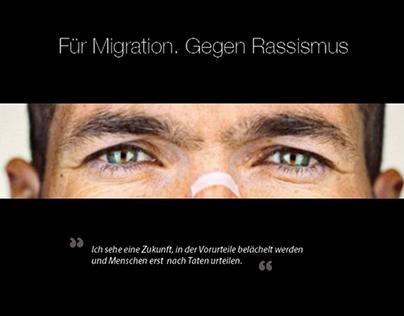 Für Migration.Gegen Rassismus