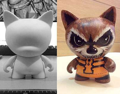 Rocket Raccoon (Custom Toy Design)