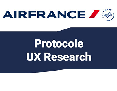 Protocole UX : AirFrance